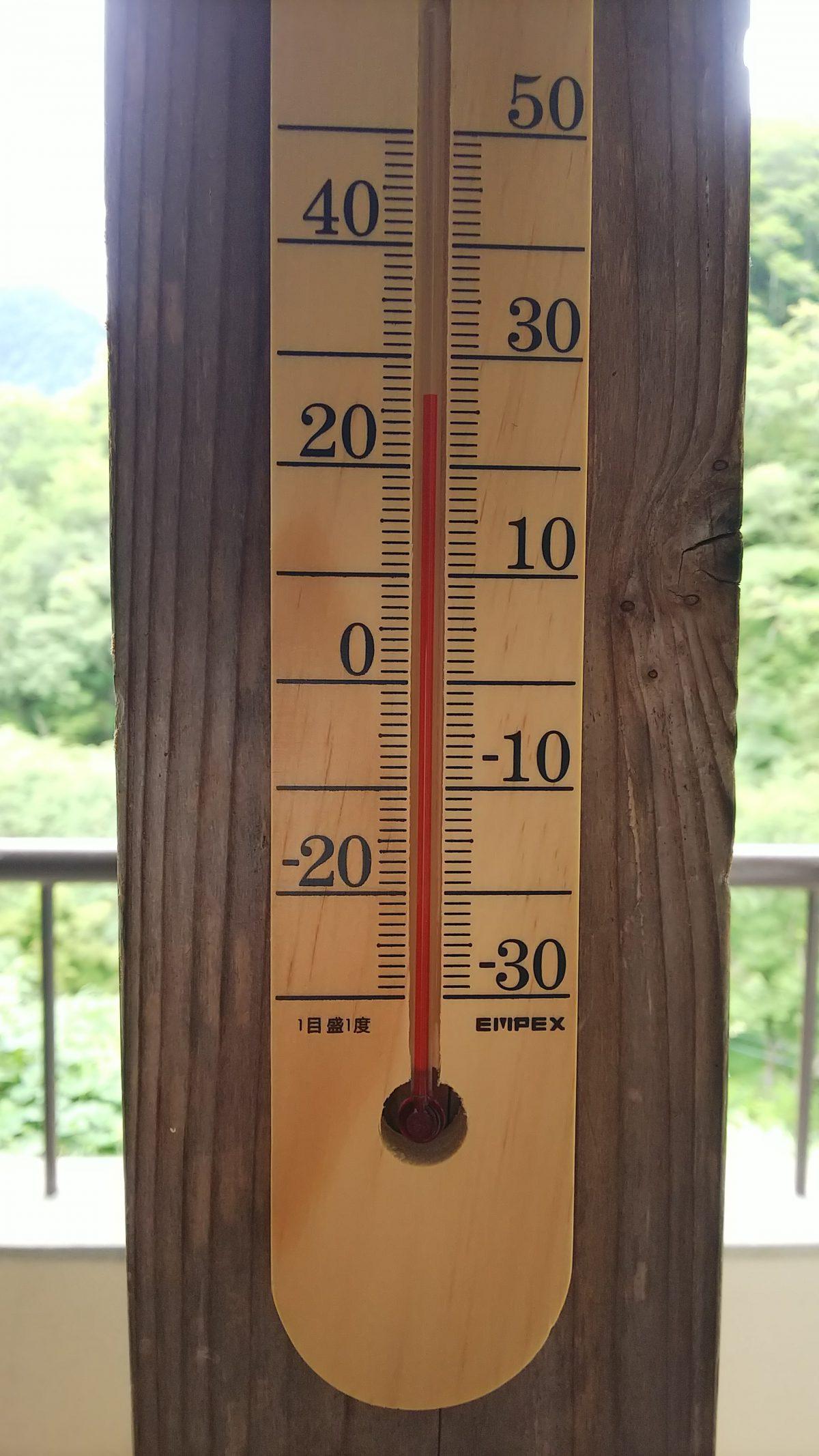最近の気温とお風呂の温度調整