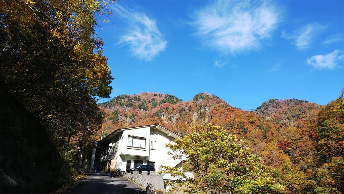 中宮温泉周辺の紅葉